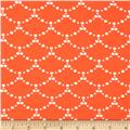 Art Gallery Millie Fleur Jersey Knit Ripples Coral