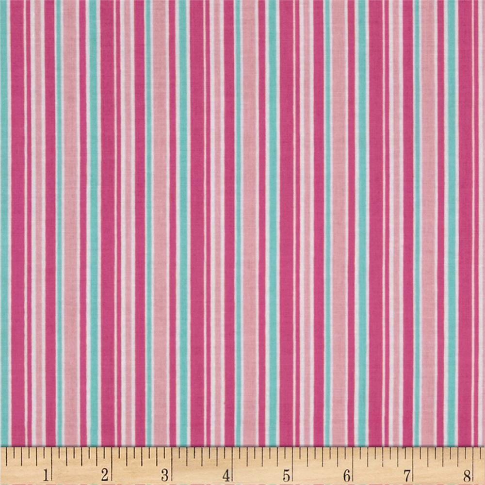 Riley Blake Lovey Dovey Stripes Pink