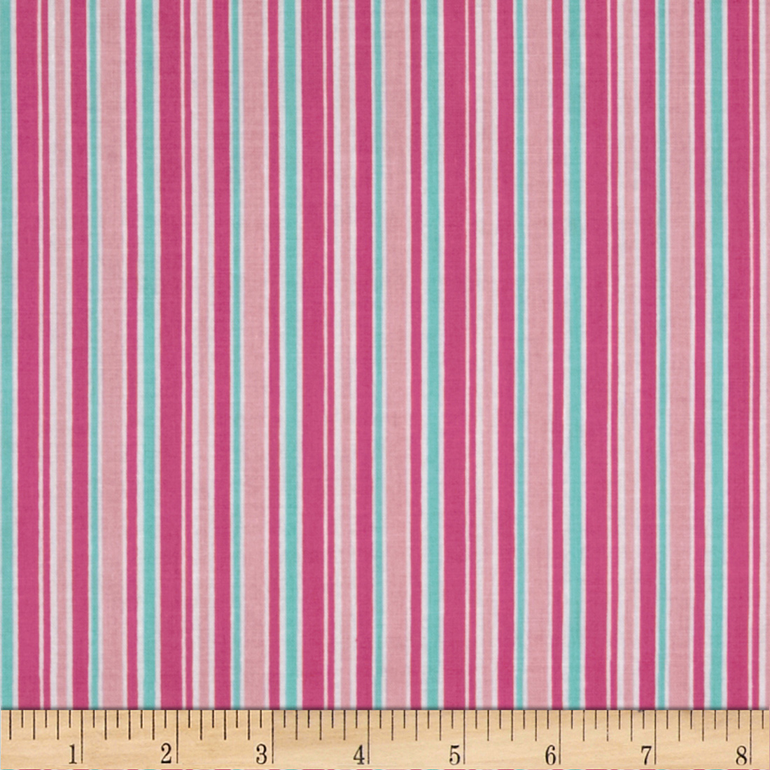 Riley Blake Lovey Dovey Stripes Pink Fabric