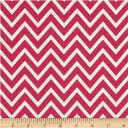 Premier Prints Cosmo Chevron Candy Pink Fabric