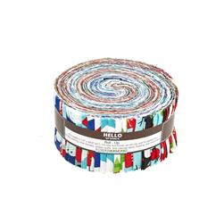 Robert Kaufman Jingle 2.5 In. Jelly Roll Multi