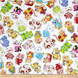Loralie Designs Calico Cats Toss White