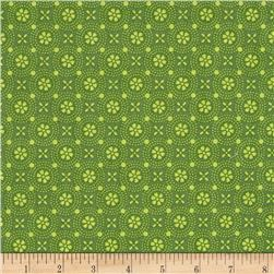 Maywood Studio Kimberbell Basics Dotted Circles Green Tonal
