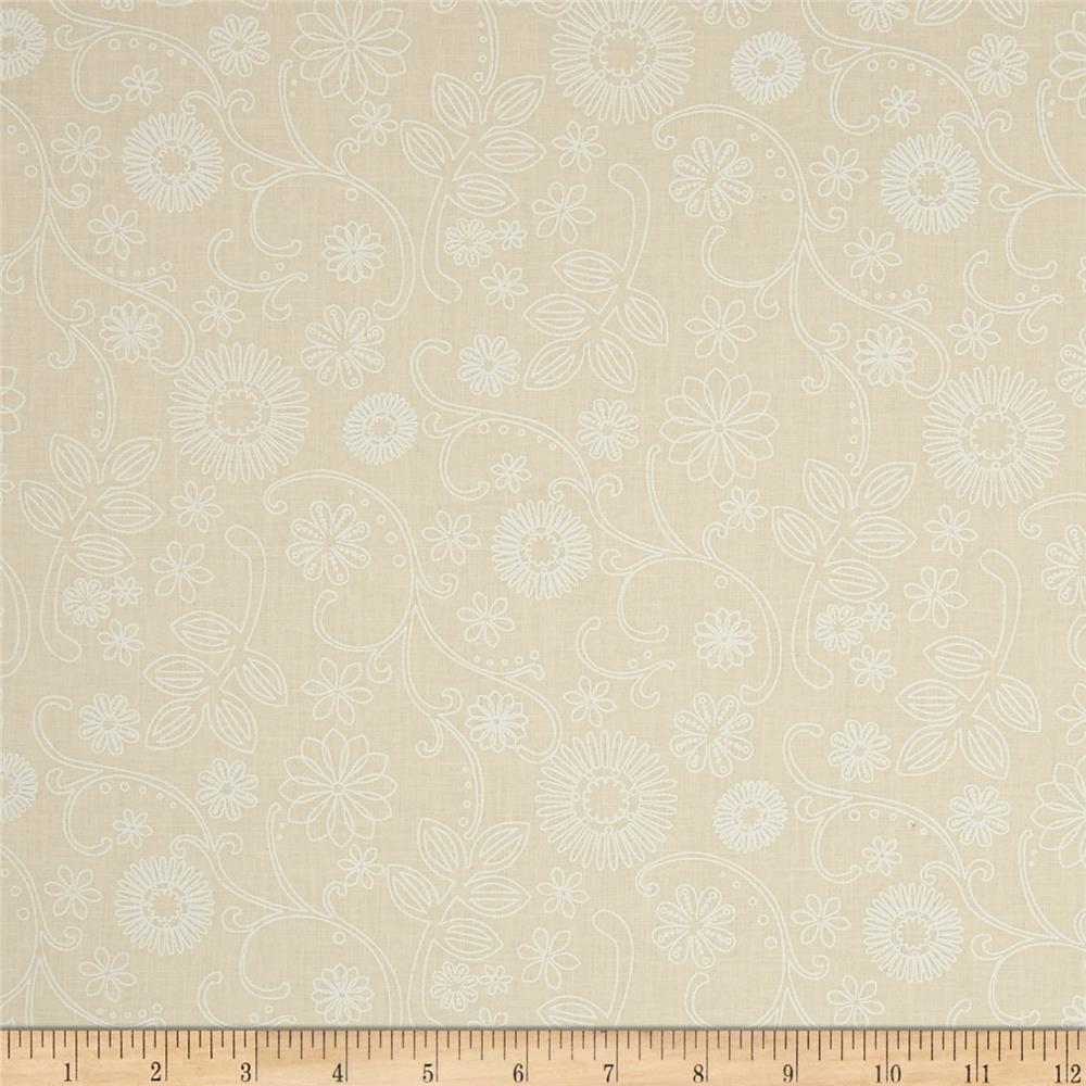 "110"" Wide Quilt Back Signature Ivory/White"