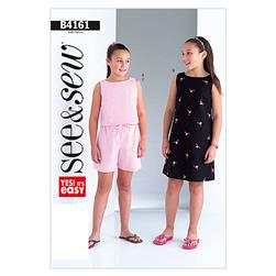 Butterick Girls'/Girls' Plus Top, Dress and Shorts Pattern B4161 Size 0A0