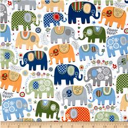 Michael Miller Happy Elephants Cheer