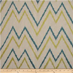Duralee Home Embroidered Levi Chevron Sea Green