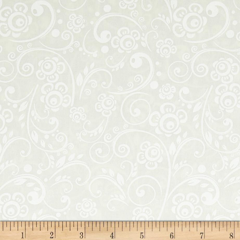 Get Back! 108'' Wide Floral Swirl White/Tint