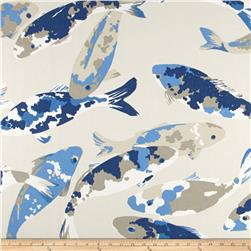 P Kaufmann Indoor/Outdoor Koi Azure