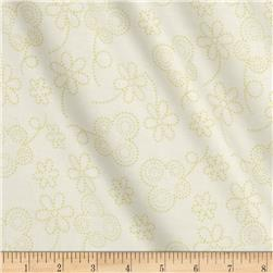Bugsy Dot Floral Lime