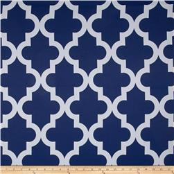 RCA Trellis Blackout Drapery Fabric Blue