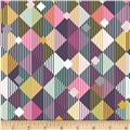 Bolt by Girl Charlee Homestead Life Jersey Knit Linear Diamonds Multi