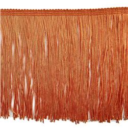 "6"" Chainette Fringe Trim Orange"