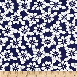 Jet Setter Daisy Chain Navy Fabric