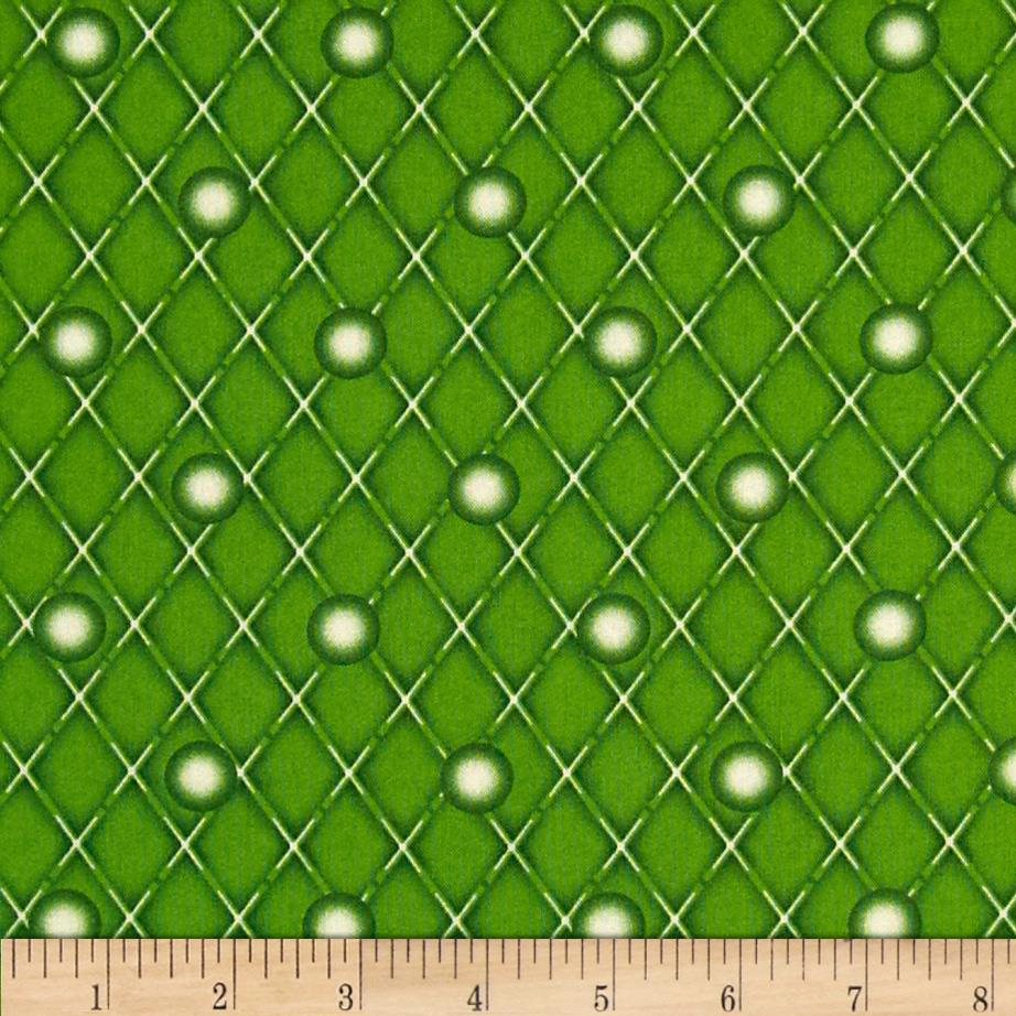 Naughty Or Nice Snowball Dot Dark Green