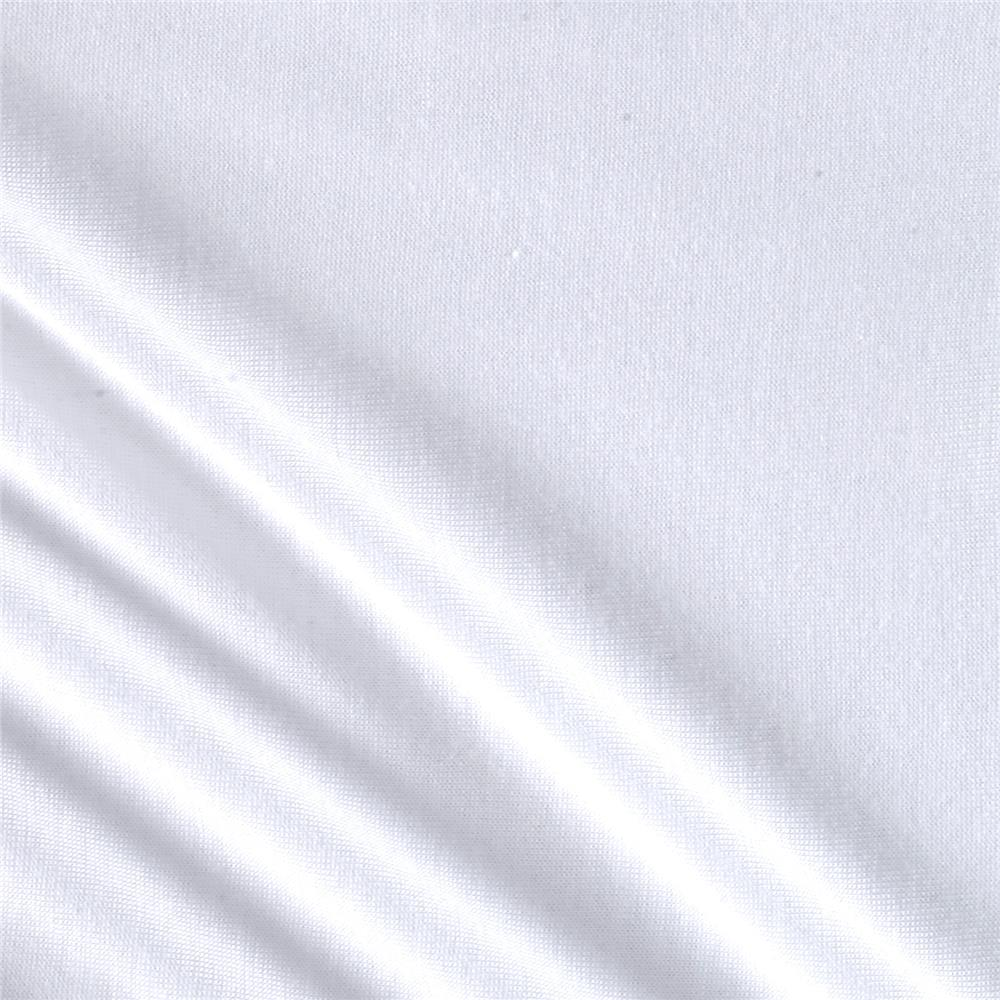 Silky Rayon Jersey Knit Solid White Fabric By The Yard