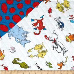 Dr. Suess Celebrate Seuss Character Collage/Dots Multi Fabric