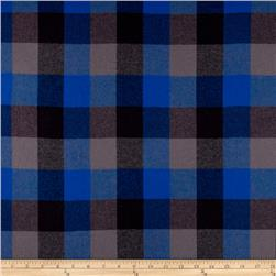 Yarn Dyed Flannel Buffalo Plaid Blue/Black