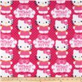 Novelty Fleece Hello Kitty Fleece Cupcake Pink