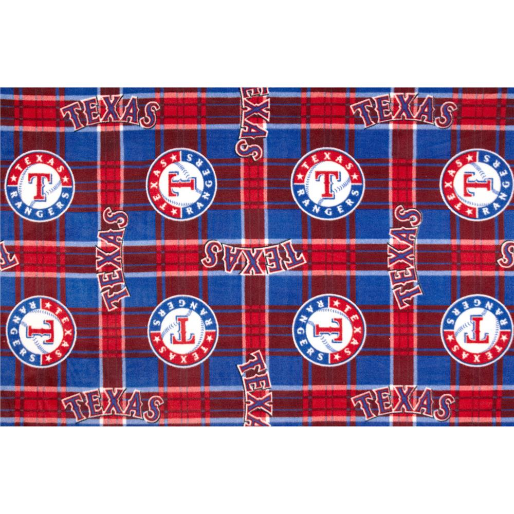 MLB Fleece Texas Rangers Fabric By The Yard