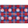 MLB Fleece Texas Rangers Plaid Blue/Red