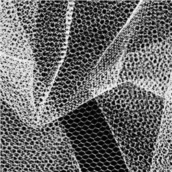 Nylon Net White Fabric