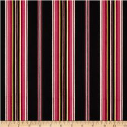 Mayfair Wide Stripe Black/Pink Fabric