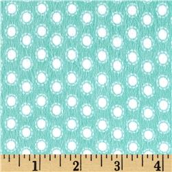 Riley Blake Little Ark Flannel Dot Aqua