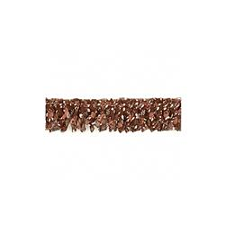 1'' Fabric Prairie Ruffled Trim Brown