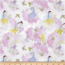 Disney Princesses Watercolor Pink/White