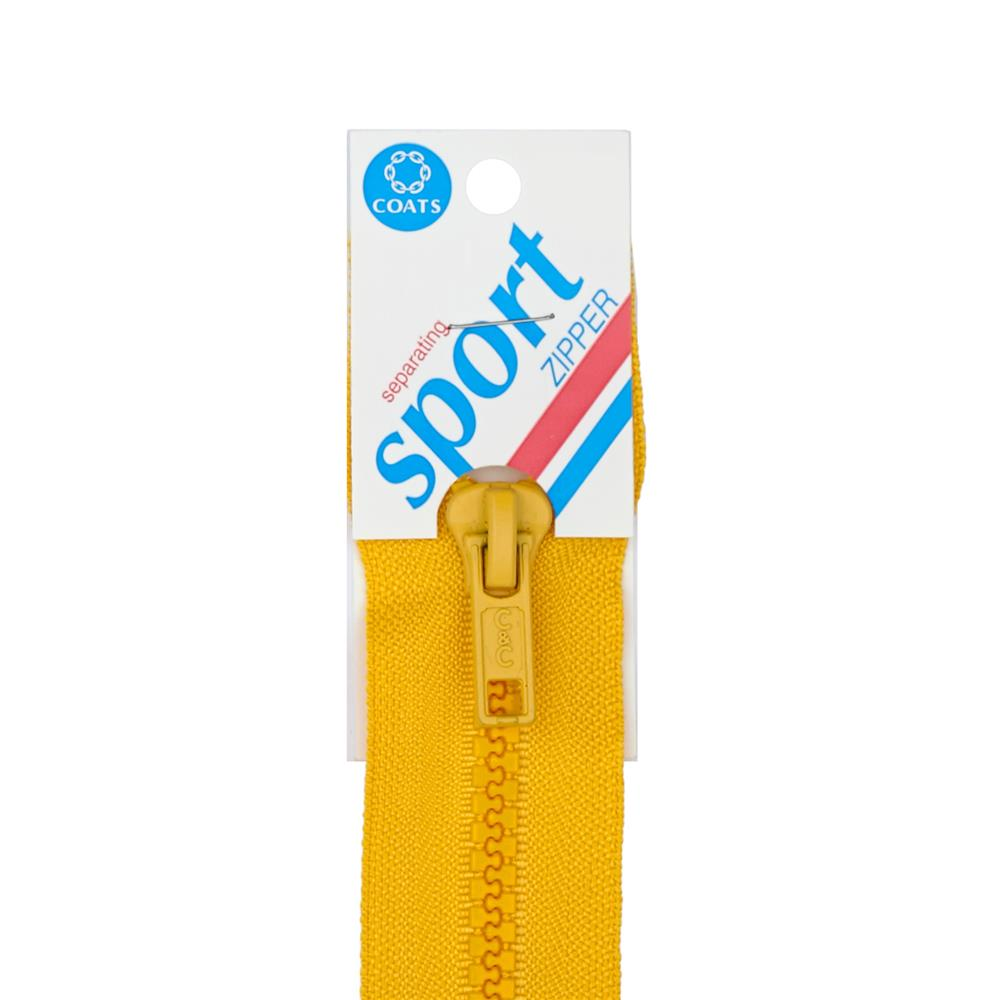 "Coats & Clark Sport Separating Zipper 28"" Spark Gold"
