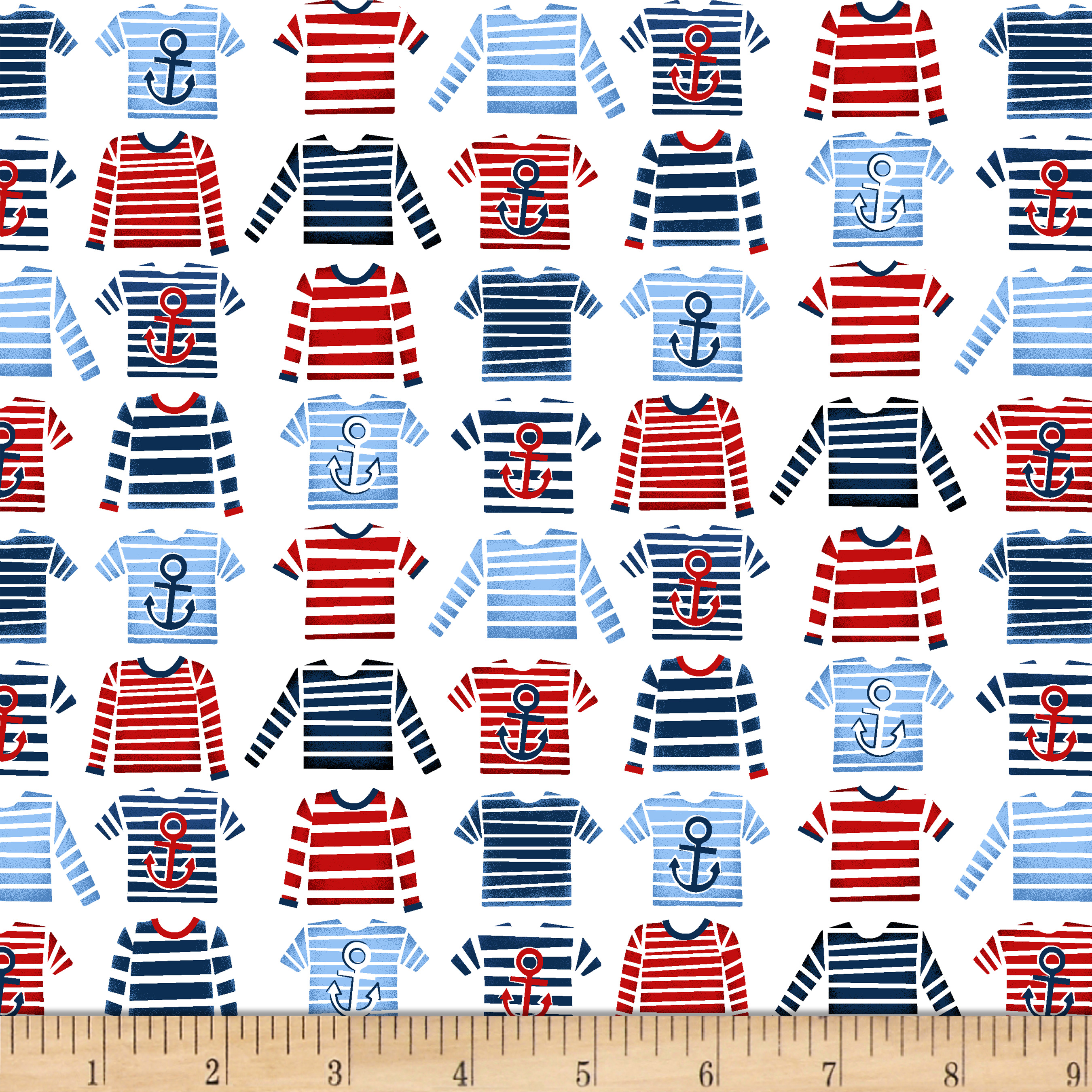 A Whale Of A Time Striped T-Shirts White Fabric
