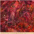 Indian Batiks Abstract Purple/Pink
