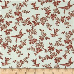 Juliette's Garden Birds and Blooms Verona Red