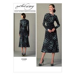 Vogue Misses' Dress Pattern V1406 Size A50
