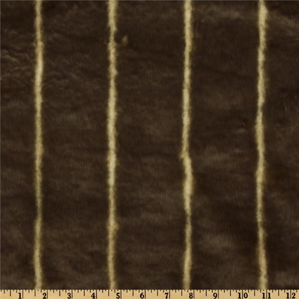 Faux Fur Stripes Cream/Brown