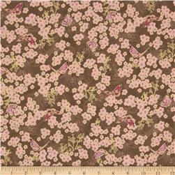 Asian Peony Metallic Butterflies Brown