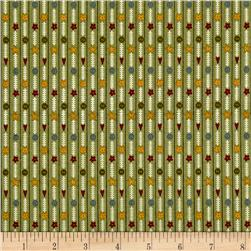 Bless This Home Novelty Stripe Green