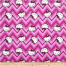 Hello Kitty Flannel Chevron Toss Pink