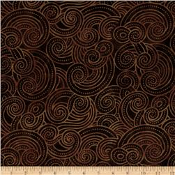 Essential Dotty Waves 108'' Wide Quilt Back Brown