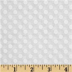 Riley Blake White on White Small Dot Fabric