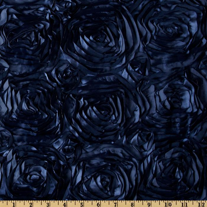 Splenda Satin Ribbon Rosette Navy