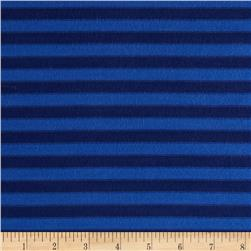 Rayon Lycra Hatchi Knit Yarn Dyed Stripes Blue