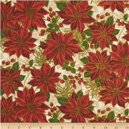 Poinsettia Glamour Metallic Poinsettia Cream