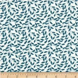 Leafy Vines Ivory/Blue