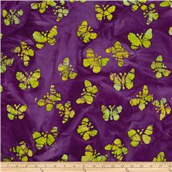 Indian Batiks Butterfly Purple