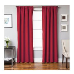 Sunbrella 84'' Solid Rod Pocket Curtain Panel Jockey Red