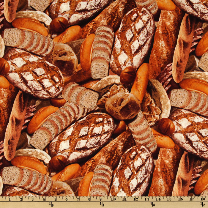Farmer's Market Bread Brown Fabric