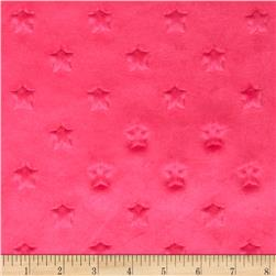 Minky Star Dot Hot Pink