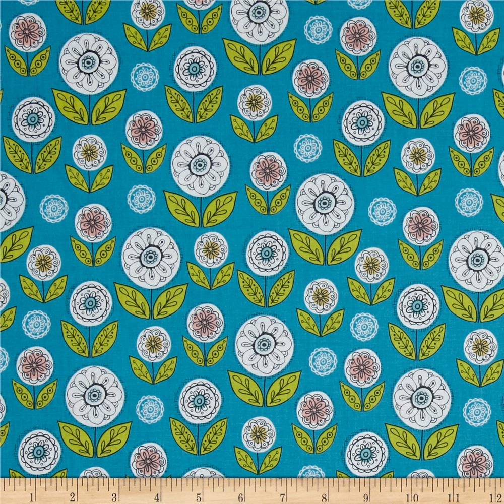 Riley Blake Dutch Treat Garden Blue